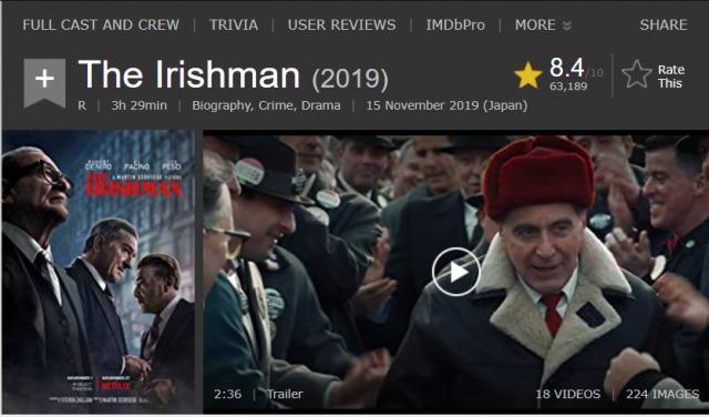 「アイリッシュマン」実話映画!フランク・シーラン、ジミー・ホッファ失踪事件の真実!
